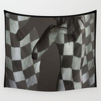 flag Wall Tapestries featuring Flag by nineteen68