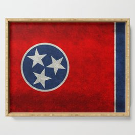 Tennessee State flag, Vintage version Serving Tray