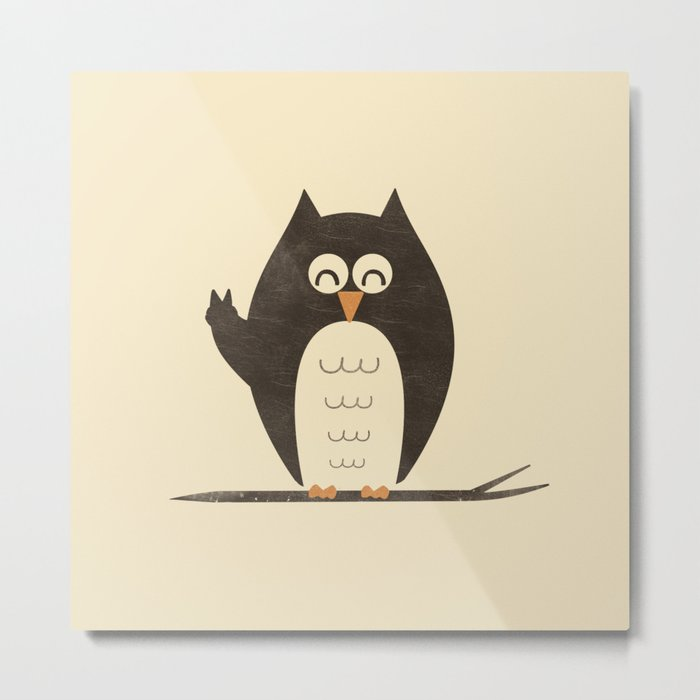 Peace Owlt Metal Print