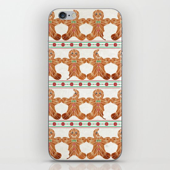 gingerbread man iPhone & iPod Skin