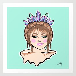 Crystal Crown Art Print