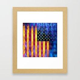 Bitter Poison Skulls: (Flag Exclusion) Framed Art Print