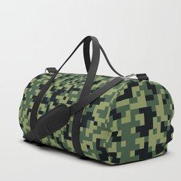 8bit camoflauge pattern Duffle Bag