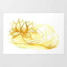 The Golden Lotus Art Print