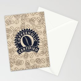 Coffeeholic Certified Stationery Cards
