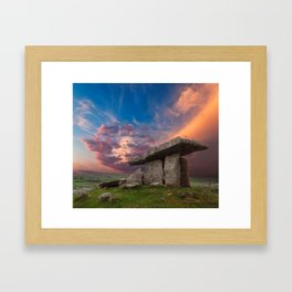 Poulnabrone Dolmen Sunset Framed Art Print