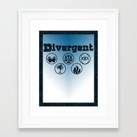 divergent Framed Art Prints featuring Divergent by green.lime