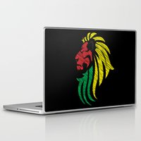 reggae Laptop & iPad Skins featuring Lion Reggae Colors Cool Flag by Denis Marsili DDTK