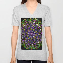 Sea Flower Mandala Unisex V-Neck
