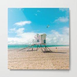 California Colors - Lifeguard Tower - v9 Metal Print