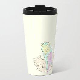 3 Channel Island Foxes Travel Mug