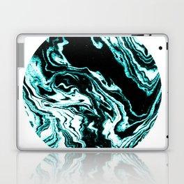 Suminagashi marble turquoise teal marbled japanese minimalist art decor Laptop & iPad Skin