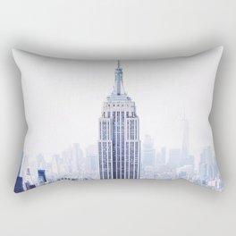 New York City - Manhattan Cityscape - Empire State Building Photograph Rectangular Pillow
