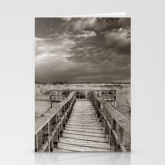 Stormy weather at the lake. Vintage Stationery Cards