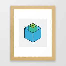 Square in Square Framed Art Print