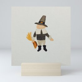 November Thanksgiving Pilgrim Puritan Baby Boy Toddler Mini Art Print