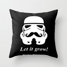 Bearded trooper Throw Pillow