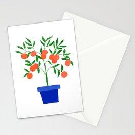 Little orange tree: potted plant VII Stationery Cards
