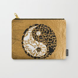 Yin-Yang Cats - Gold Carry-All Pouch