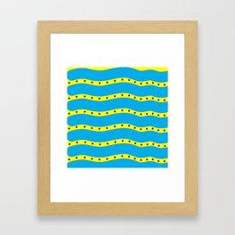 Coastal Pattern On the Beach Framed Art Print