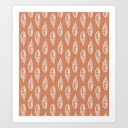 Feathers / Terra Cotta Art Print