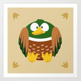 Duck from the circle series Art Print