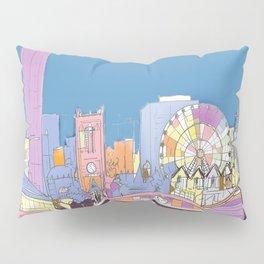 Manchester Skyline Opera House Hilton Hotel Railway City Town Hall England GB UK Pillow Sham