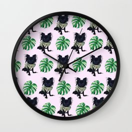 Summer Fun Chihuahua Wall Clock