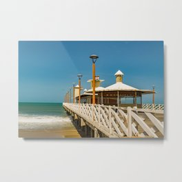 Breakwater Walkway at Fortaleza Beach Metal Print