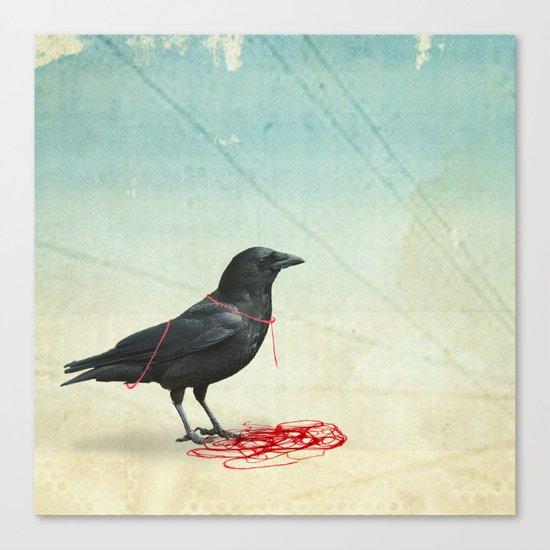 freedom  _ black crow Canvas Print