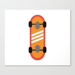Orange Skateboard Canvas Print