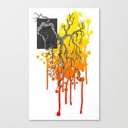 Liquid Autumn Leaves (Light) Canvas Print