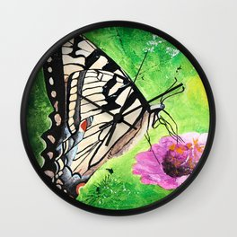 Butterfly - Morning light - by LiliFlore Wall Clock