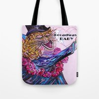 broadway Tote Bags featuring Broadway Baby by EloiseArt