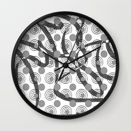 Love Laces grey Wall Clock