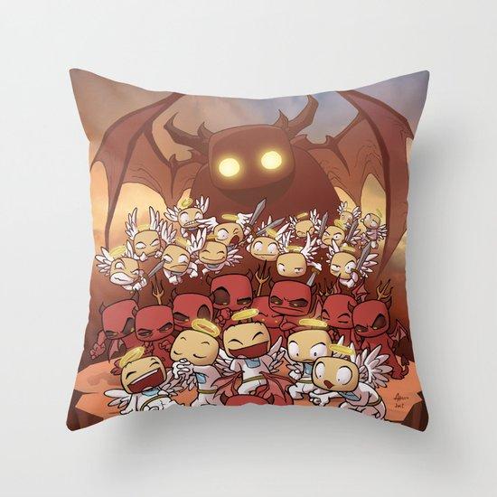 Headlights of Dooom Throw Pillow