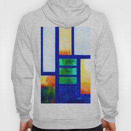 Art Deco Colorful Stained Glass Hoody