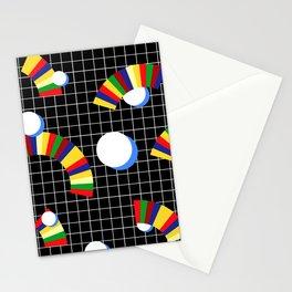 Memphis Grid & Rainbows Stationery Cards