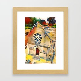 Bourton on the Water Miniature Building Framed Art Print