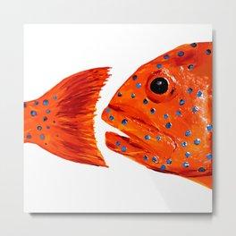 Coral Grouper Metal Print