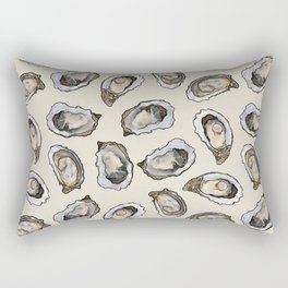 Oysters by the Dozen in Cream Rectangular Pillow