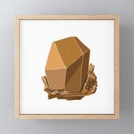 Golden Gem Framed Mini Art Print