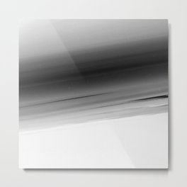 Gray White Smooth Ombre Metal Print