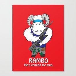 Rambo  Canvas Print