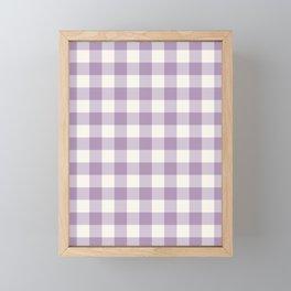 Lavender Gingham Framed Mini Art Print