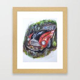 Abandoned in Woods Framed Art Print