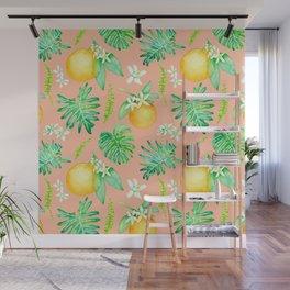 Citrus Tropics - Pink Wall Mural