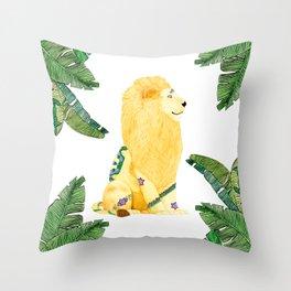 Lion Beijing Throw Pillow