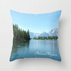 Grand Teton National Park landscape photography  Throw Pillow