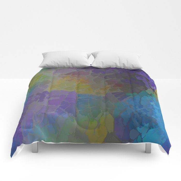 Rainbow Mosaic Abstract Comforters
